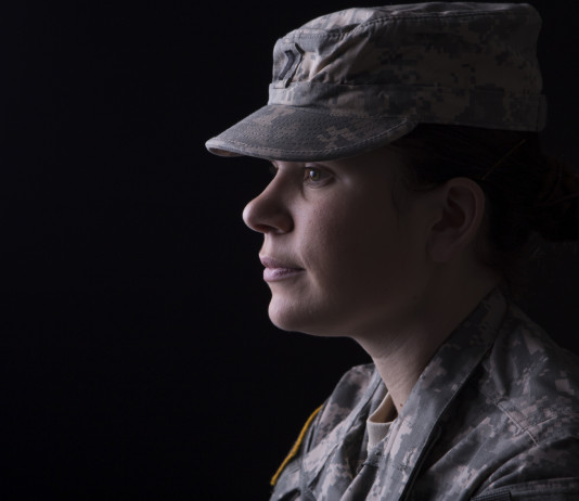 US female soldier